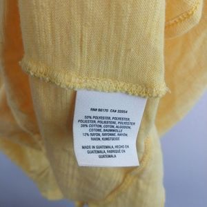 Anthropologie Tops - NWT Maeve Yellow Ruffle Wrap Back Peplum Tank L